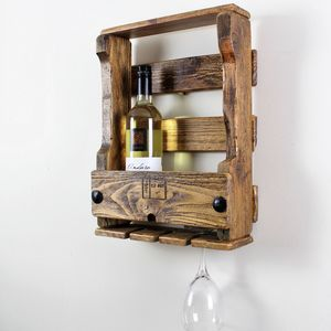 Wooden Wine Rack - kitchen