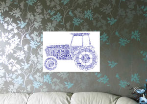 Tractor Personalised Word Art Print