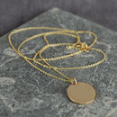 Solid Gold Large Disc Necklace