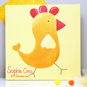 Personalised Chicken Canvas, Hand Painted - paintings
