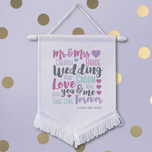 Personalised Newlywed Wedding Banner - hanging decorations