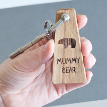 Personalised Mummy Bear Keyring