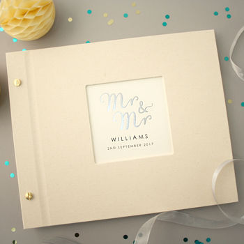Personalised Mr And Mr Wedding Photo Album