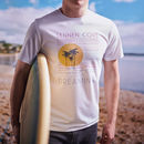 Men's Personalised Favourite Beach White T Shirt