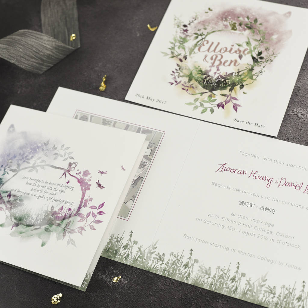 magical wedding invitation by julia eastwood | notonthehighstreet.com