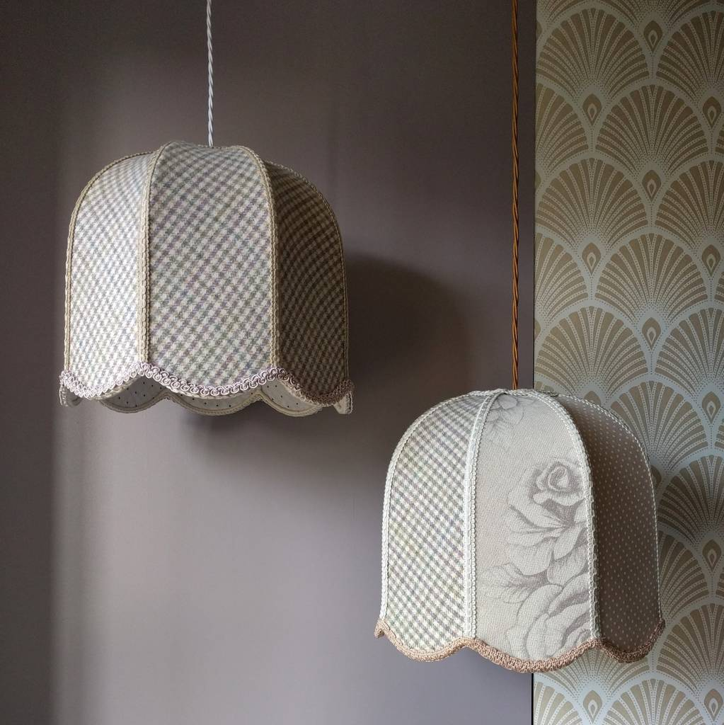 Blush Patchwork Tulip Lampshades