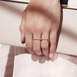 Intersect Double Finger Ring - our favourite summer jewellery