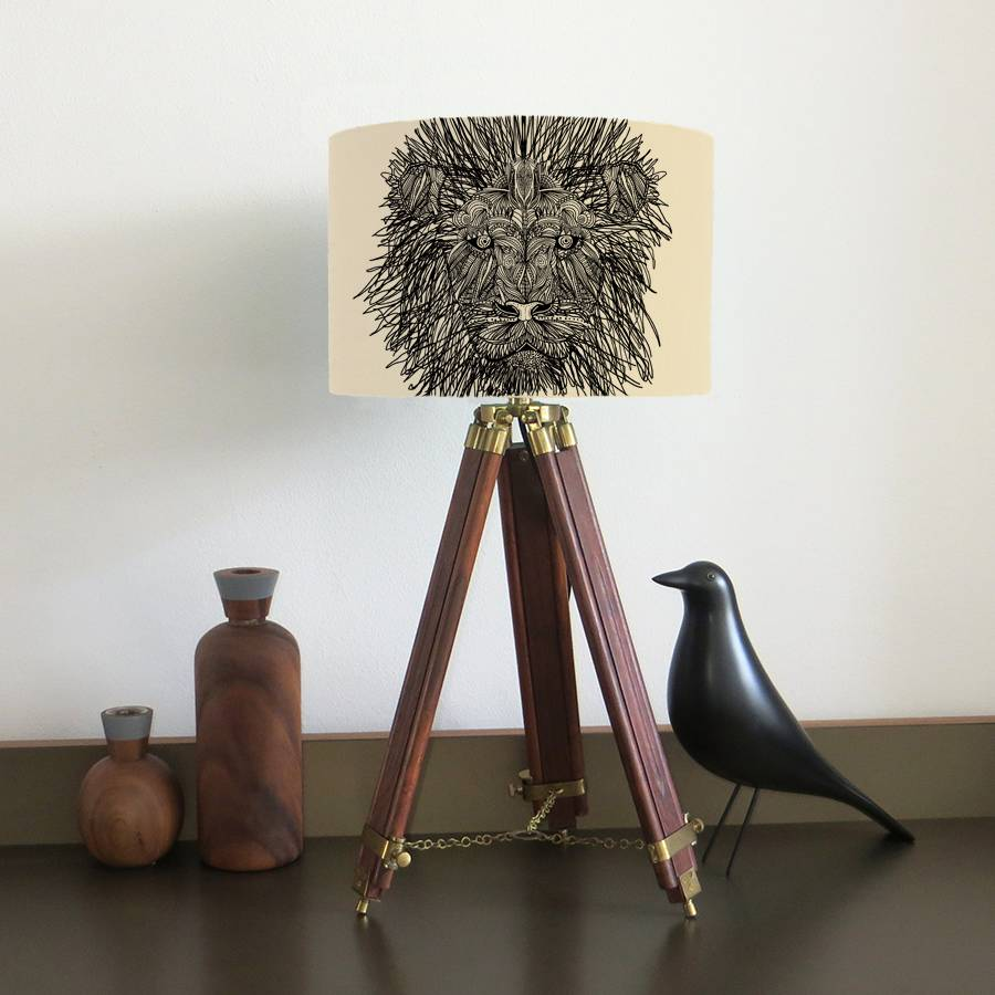 Lion Lampshade With Fifteen Fabric Colour Options
