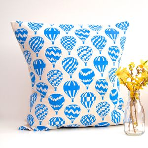 Cushion Hot Air Balloon Print