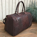 Luxury Large Buffalo Leather Holdall, Travel Bag