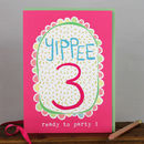 3rd Birthday Card Girl/Boy