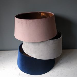 Blush Velvet And Copper Lampshades - a retro revival