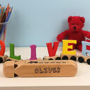 Personalised Wooden Letter Name Train