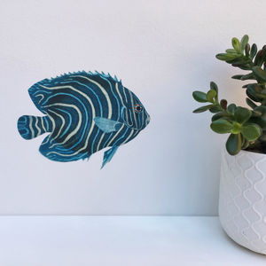 Blue Tropical Fish Wall Sticker