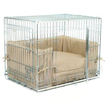 Luxury Dog Crate Bumper Set In Regency Stripe