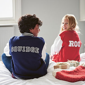 Personalised Child's Varsity Jacket - personalised gifts