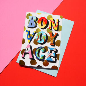 Bon Voyage Gold Foiled Card