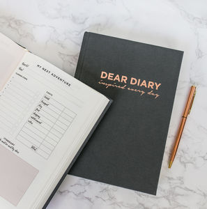 'Dear Diary' Inspirational Lifestyle Planner - gifts for her