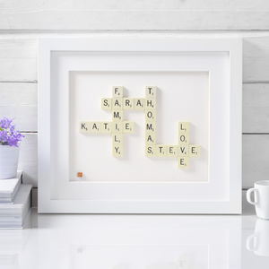 Personalised Scrabble® Art - mixed media & collage