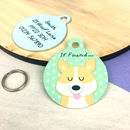 Corgi Personalised Dog Name ID Tag