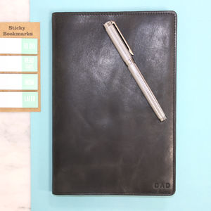 Vintage Leather Personalised Notebook