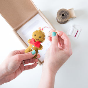 Sew Your Own Gingerbread Man Kit - christmas decorations