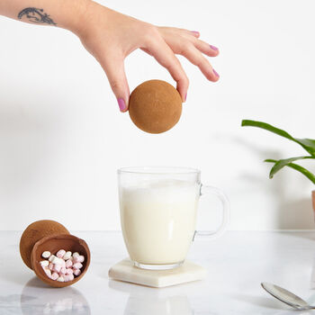 Set Of Three Hot Chocolate And Marshmallow Bombs