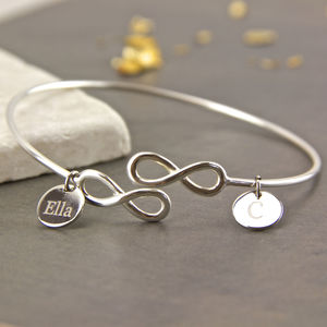 Sterling Silver Infinity Knot Open Bangle - bracelets & bangles
