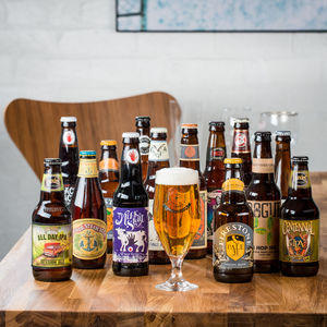 14 American Craft Beers And Glass - beer & cider