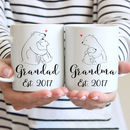 Personalised New Grandad And Grandma Mugs