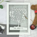 Personalised Fathers Day Family Tree Papercut