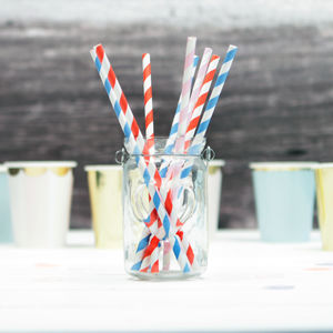 Colourful Twist Stripe Party Straws - teddy bear's picnic