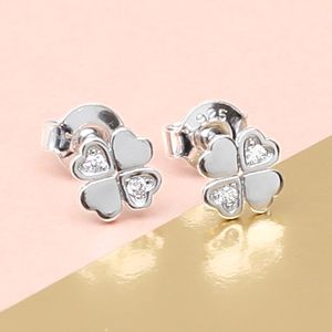 Sterling Silver Lucky Four Leaf Clover Earrings