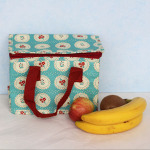 Thermal Blue Doiley Lunch Bag - lunch boxes & bags