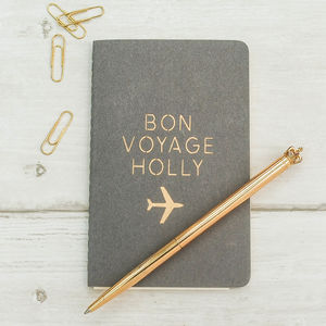 Luxury Personalised Travel Journal - summer holiday essentials