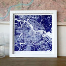 Medium Blue Risograph Map