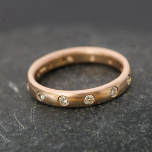 Diamond Eternity Band In 18 Carat Gold - fine jewellery