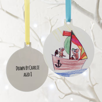 Personalised Child's Drawing Hanging Decoration
