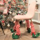 Pack Of Four 'Elf Stocking' Chair Leg Covers