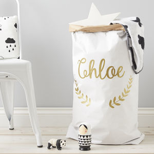 Wreath Personalised Christmas Sack - laundry bags & baskets