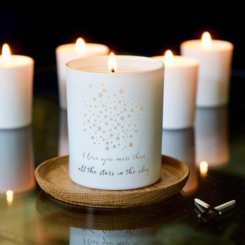 Love You More Than All The Stars Candle