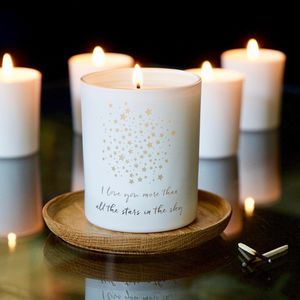 Love You More Than All The Stars Candle - gifts for the bride