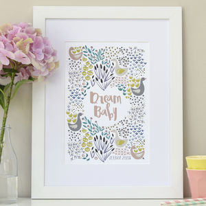 Dream Baby Personalised Children's Print
