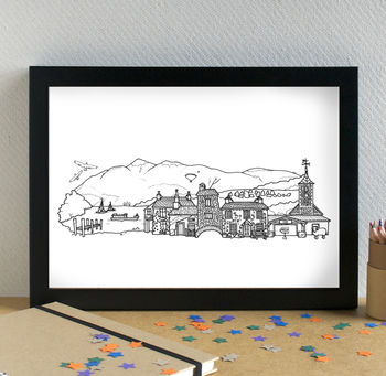 Lake District Landmarks Art Print