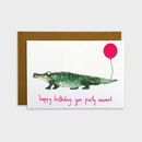 Birthday Crocodile Card