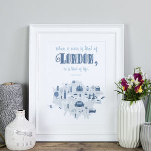 London Quote Poster Print - architecture & buildings