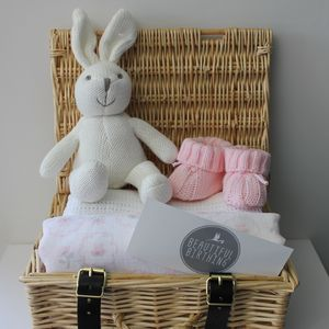 Newborn Baby Girl Hamper - blankets, comforters & throws