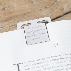Personalised Bookmark Clip - bookmarks