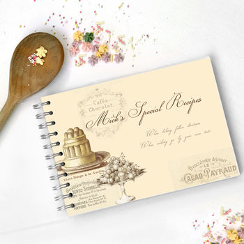 Personalised Vintage Style Recipe Journal