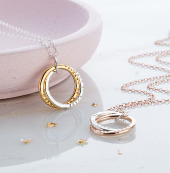 Personalised Interlinking Necklace With Gold